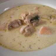Bílá polévka s kuřecím masem recept