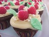 Kakaovo-malinove cupcakes recept