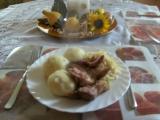 Bramborovo-houskové knedlíky recept