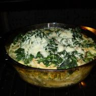 Zapečené kuře se špenátem recept