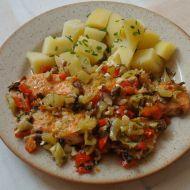Pečený losos se zeleninou recept