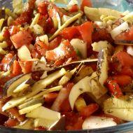 Pečená zelenina s houbami recept