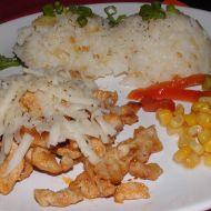 Kuřecí nudličky s cibulkovou rýží recept