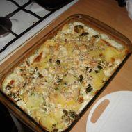 Zapékané brambory s brokolicí a nivou recept