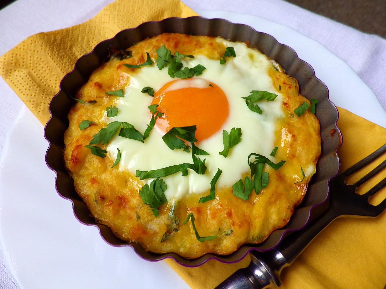Tartaletky ze špagetové dýně s vejcem recept
