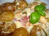 Zapečené kuřecí maso s bazalkou, slaninou a bramborama recept ...