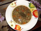 Čočková polévka nakyselo se zeleninou a hlívou recept ...