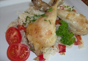 Kuře pečené s rýží