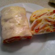 Sýrová roláda se šunkou recept