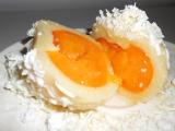 Sněhové tvarohové knedlíky s ovocem recept