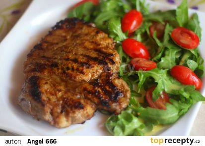 Toskánská krkovička s rukolovým salátem recept