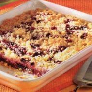 Rychlý drobenkový ovocný koláč recept