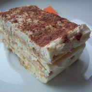 Šlehačkový dezert s piškoty recept