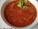 Červená polévka s quinoou recept