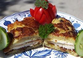 Bramborák s kuřecím masem a sýrem recept