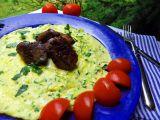 Cuketová omeleta s kuřecímu játry recept