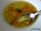 Zeleninový vývar s nudlemi nebo písmenky recept
