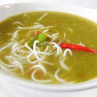 Pórková polévka s rýžovými nudlemi recept