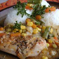 Provensálské kuřecí plátky na zelenině recept