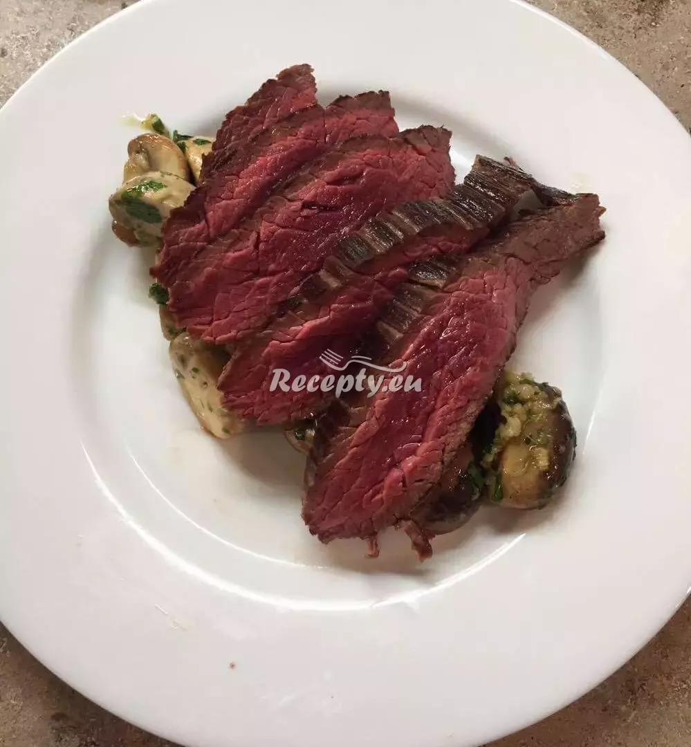 Flank steak neboli hovězí pupek recept  fitness recepty