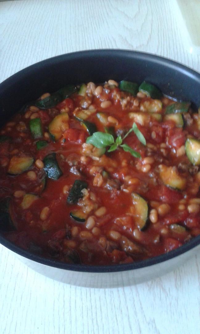 Cuketová pánev se zeleninou recept