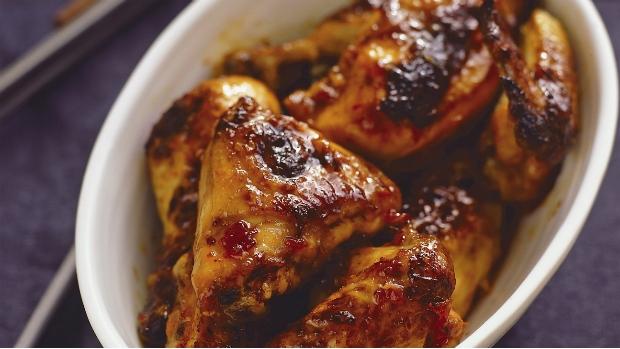Pečené kuře s lepivou kůrčičkou