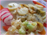 Zapečené brambory s Nivou a pórkem recept