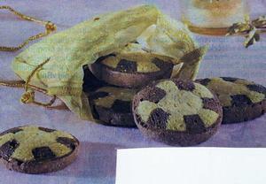 Dvoubarevné perníkové sušenky
