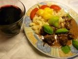 Ragú s brusinkami v mátovo meduňkovémzábalu recept ...
