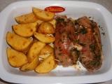 Kuřecí rolky plněné slaninou a nivou recept