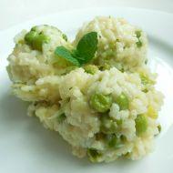 Italské risotto s hráškem a parmazánem recept