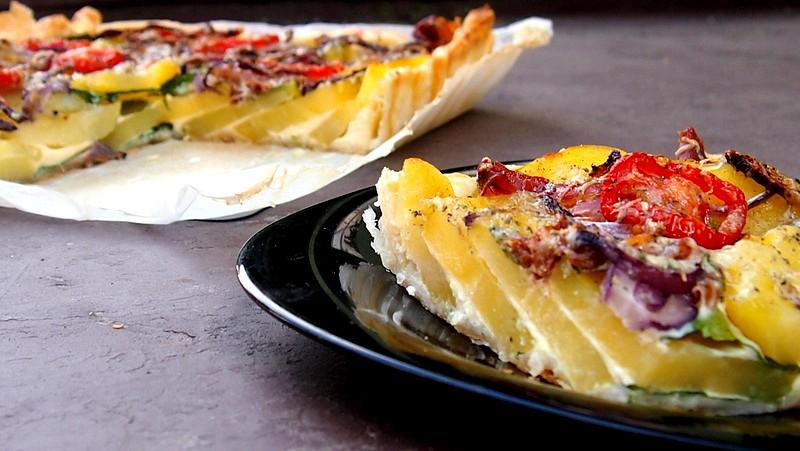 Bramborový koláč se špenátem recept