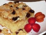 Máslovošlehačkový koláč s mandlovou krustou recept