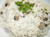 Žampionová rýže recept