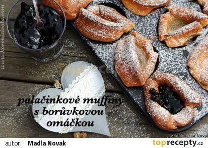 Palačinkové muffiny s borůvkovou omáčkou recept