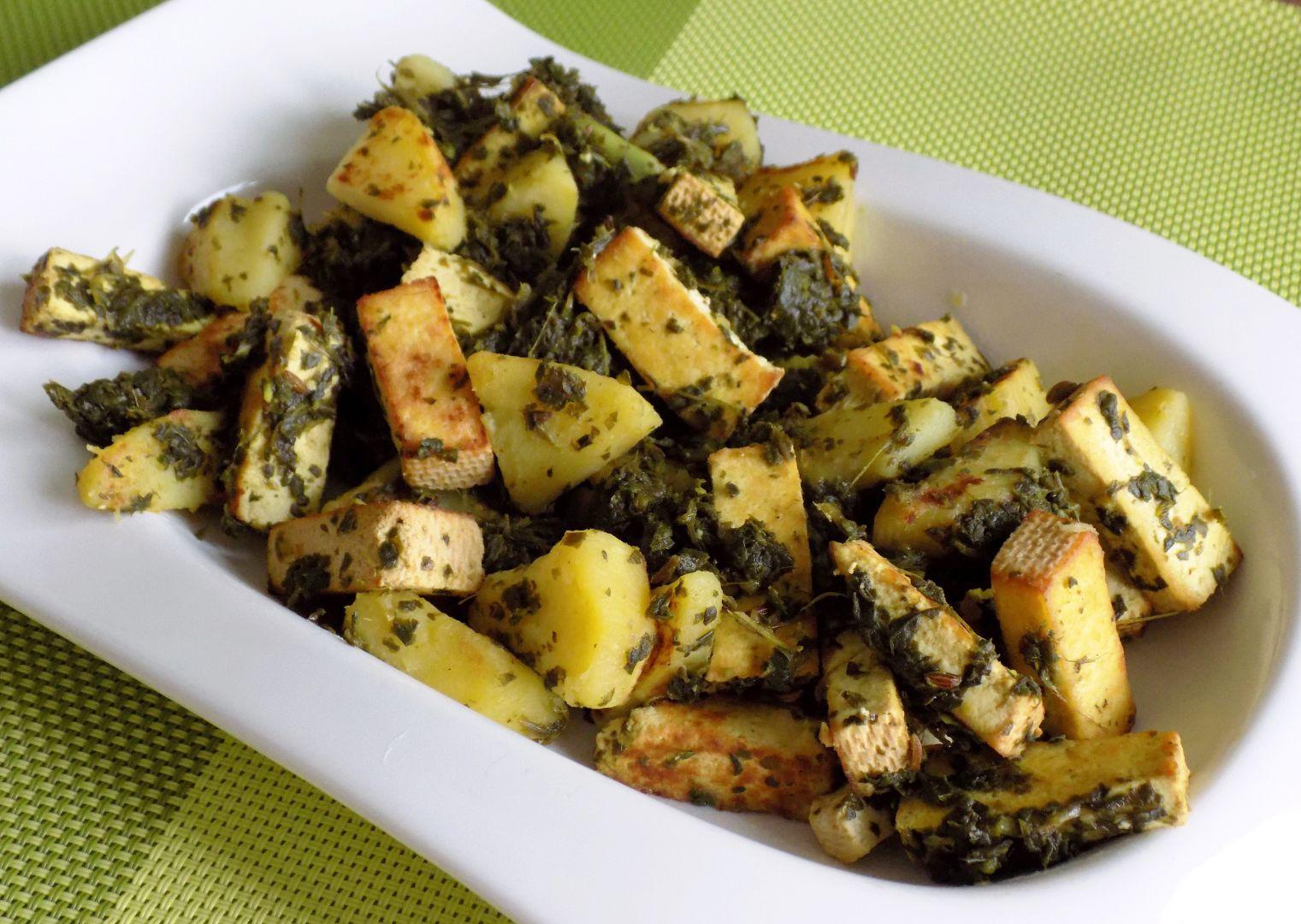 Mangoldová pánev s tofu recept