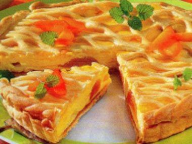 Meruňkový křehký koláč