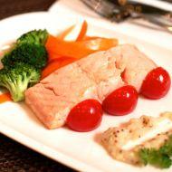 Losos s celerovým pyré recept