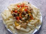 Penne s kuřecím ragú na paprice recept