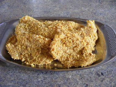 Křupavé řízečky v corn flakes