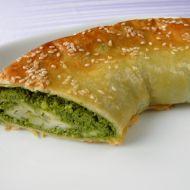 Listový závin s pikantním špenátem recept