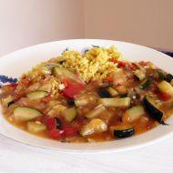 Cuketová směs s kari rýží recept