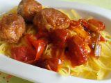 Špagetová dýně s masovými kuličkami v rajčatové omáčce recept ...