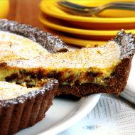 Linecký koláč s tvarohem a čokoládou recept