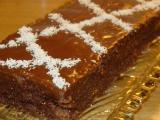Kakaové řezy slepované-rychlé recept