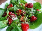 Jahodovo-špenátový salát recept