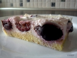 Kokosový dortík s třešněmi recept