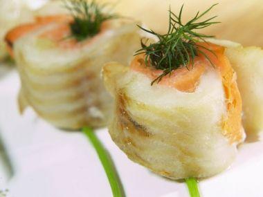 Recept Rybí závitky s uzeným lososem