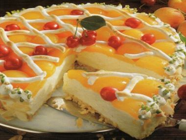 Meruňkový chlazený dort