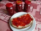 Jahodovo  rebarborový džem recept